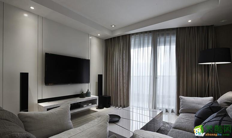 西安兴唐装饰-现代简约三居室装修效果图