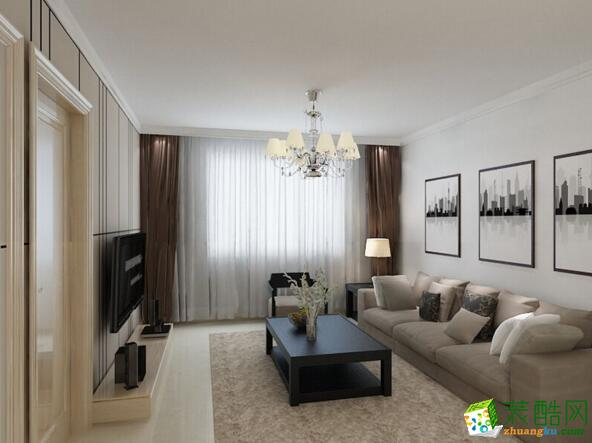 【美德装饰】现代风格两居室装修案例