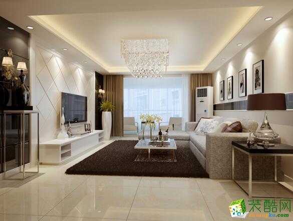 【美德装饰】三居室95平米装修案例
