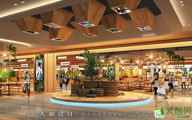 休闲区 天霸设计商场装修设计效果图灵魂所在-中庭设计欣赏