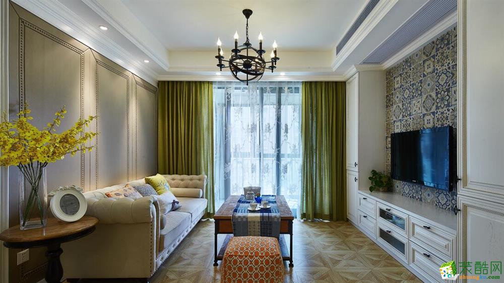 【吉筑装饰】100平美式风格三居室