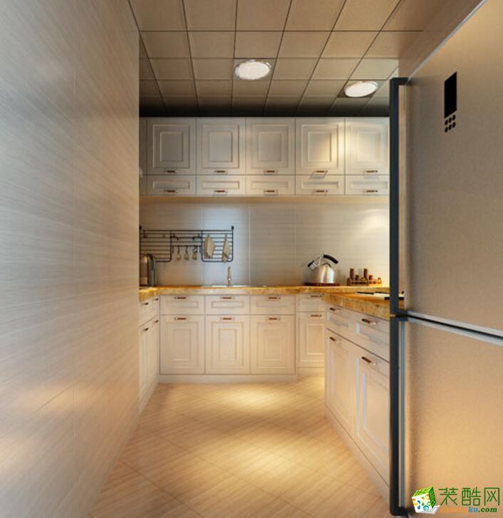 【美德装饰】美式风格120平米三居室装修案例