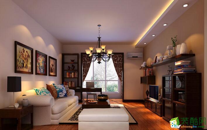 【美德装饰】新中式风格90平米两居室装修案例