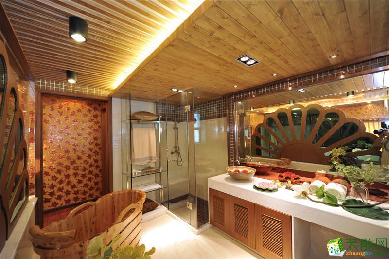 美颂雅庭装饰―保利中央公馆113平方东南亚风格案例