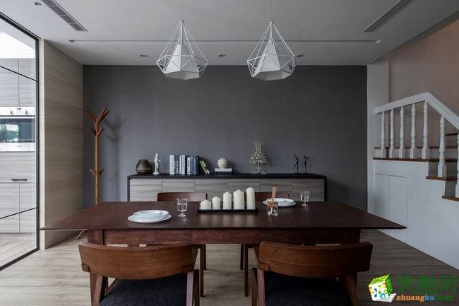西安朗汇装饰-现代简约复式楼装修效果图