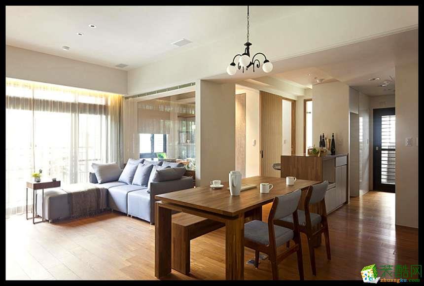 西安紫珊瑚装饰-现代简约三居室装修效果图