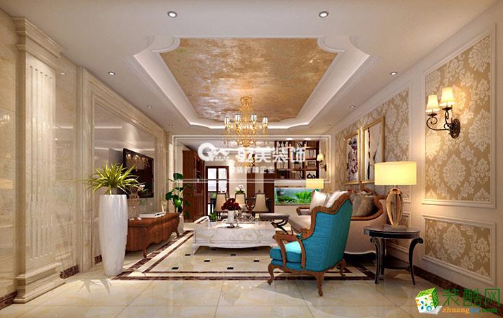 昆明时代俊园180�O欧式风格装修设计案例