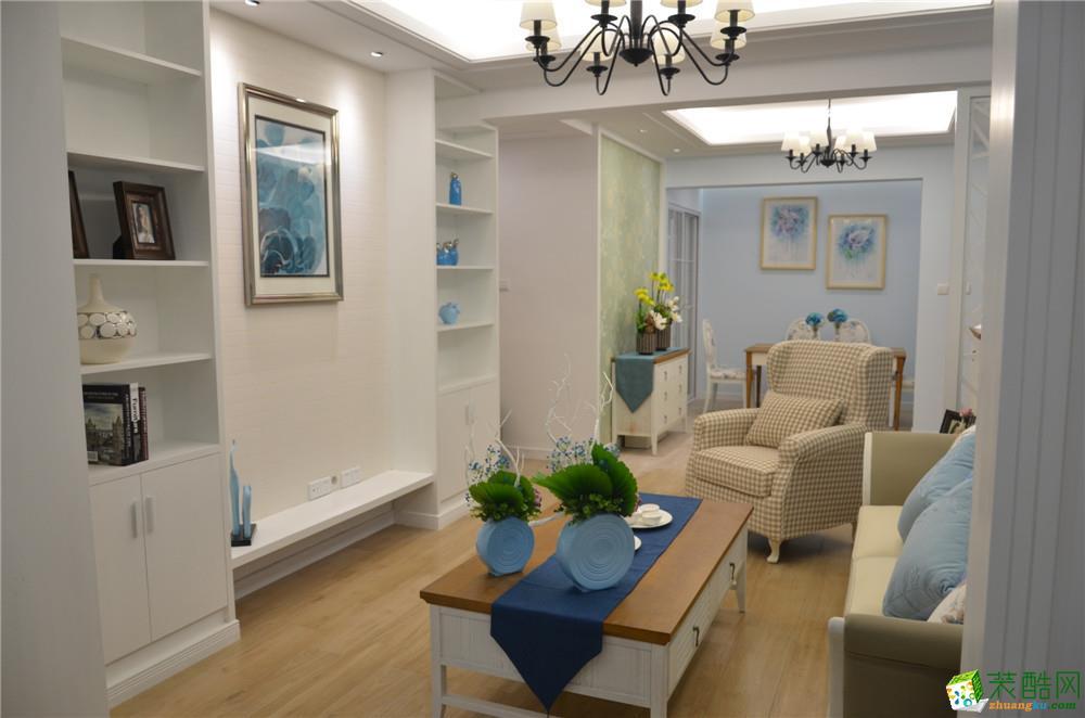 客厅  地中海风格三房样板间