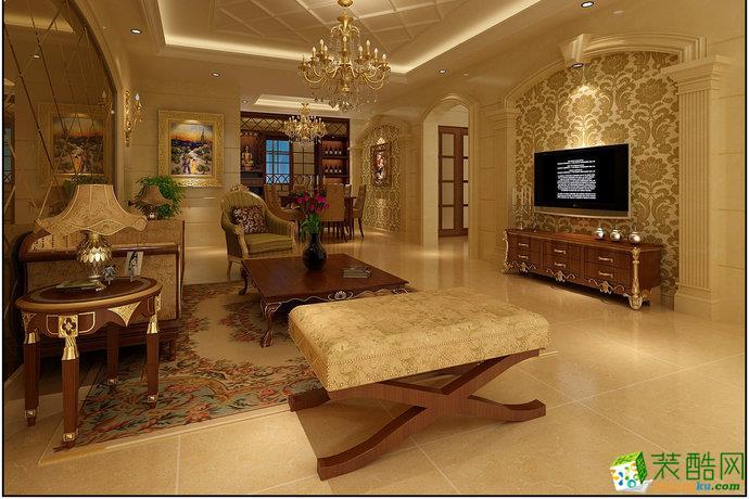 阳光维多利亚 130平方米三居室客厅装修效果图