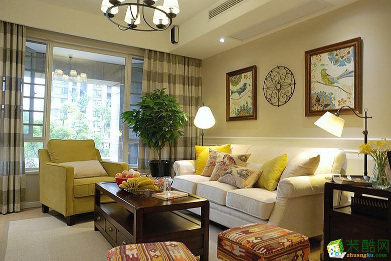 西安紫珊瑚装饰-美式乡村三居室装修效果图