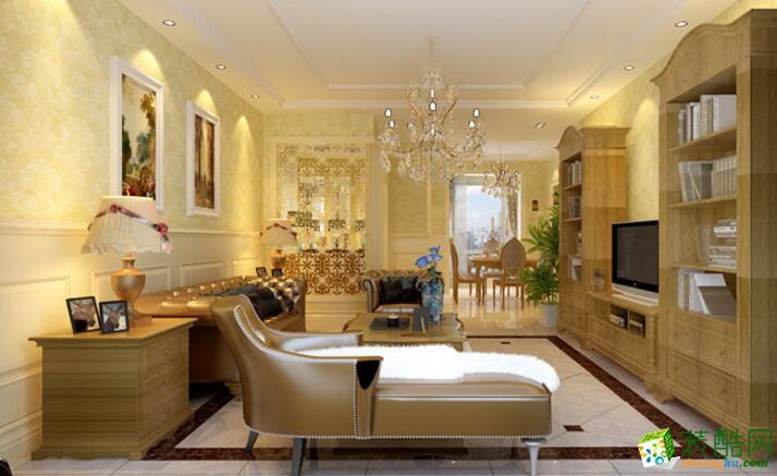 >> 【木格裝飾】美式風格103平米三居室裝修案例