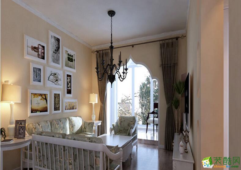 【业之峰装饰】120平米三居室美式风格装修案例