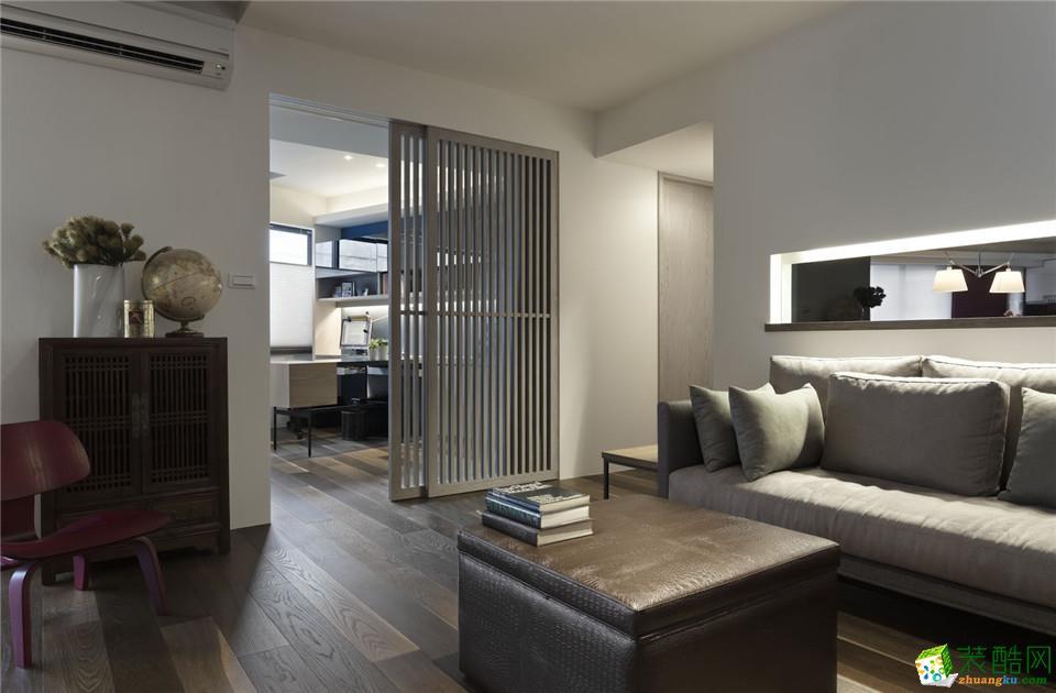 长沙实创家居装饰-现代简约两居室装修效果图