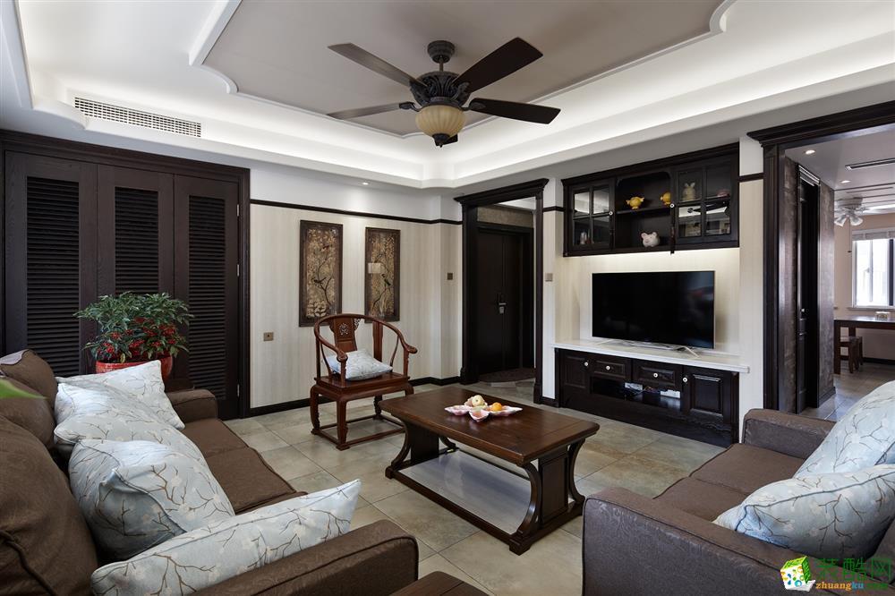 客厅  吉筑装饰―酷酷的新中式