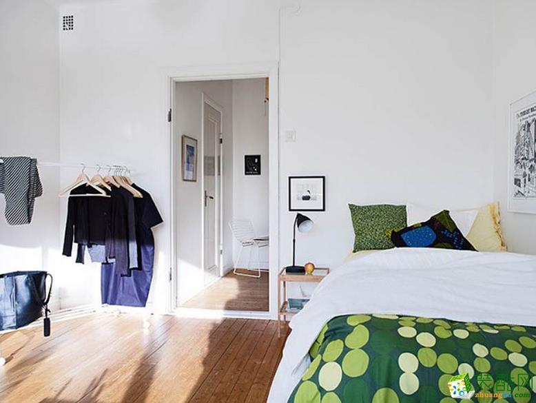 清新简约风80平一居室厨房效果图