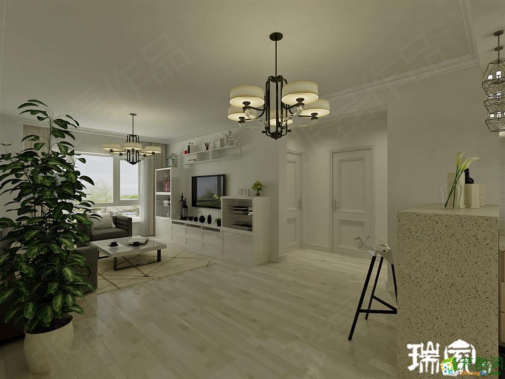 >> 【巴黎公馆】78㎡二室二厅一卫 现代简约