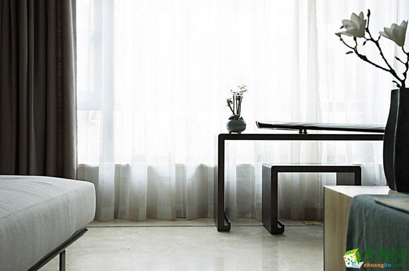 西安东宫装饰-新中式三居室装修效果图