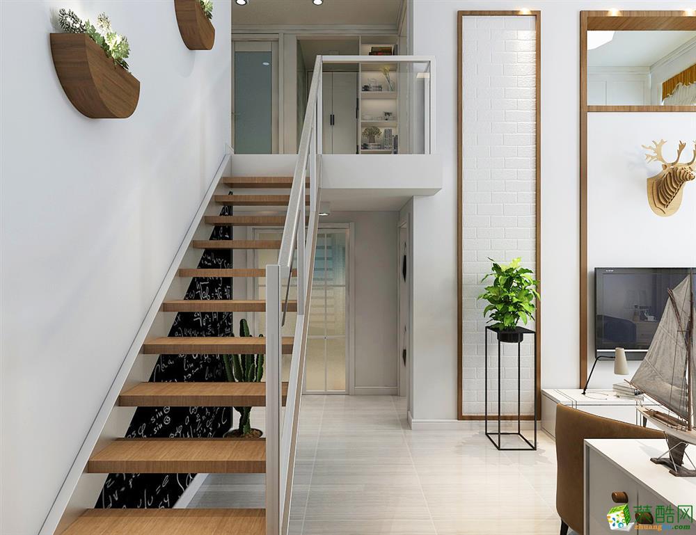 >> 【汇美 案例】欧式风格,跃层公寓经典白设计图片