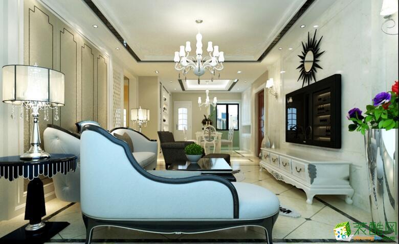 【深行装饰】新中式风格125平米三居装修案例图