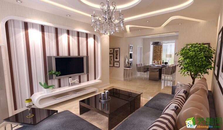 【龙发装饰】现代风格126平米三居室装修案例