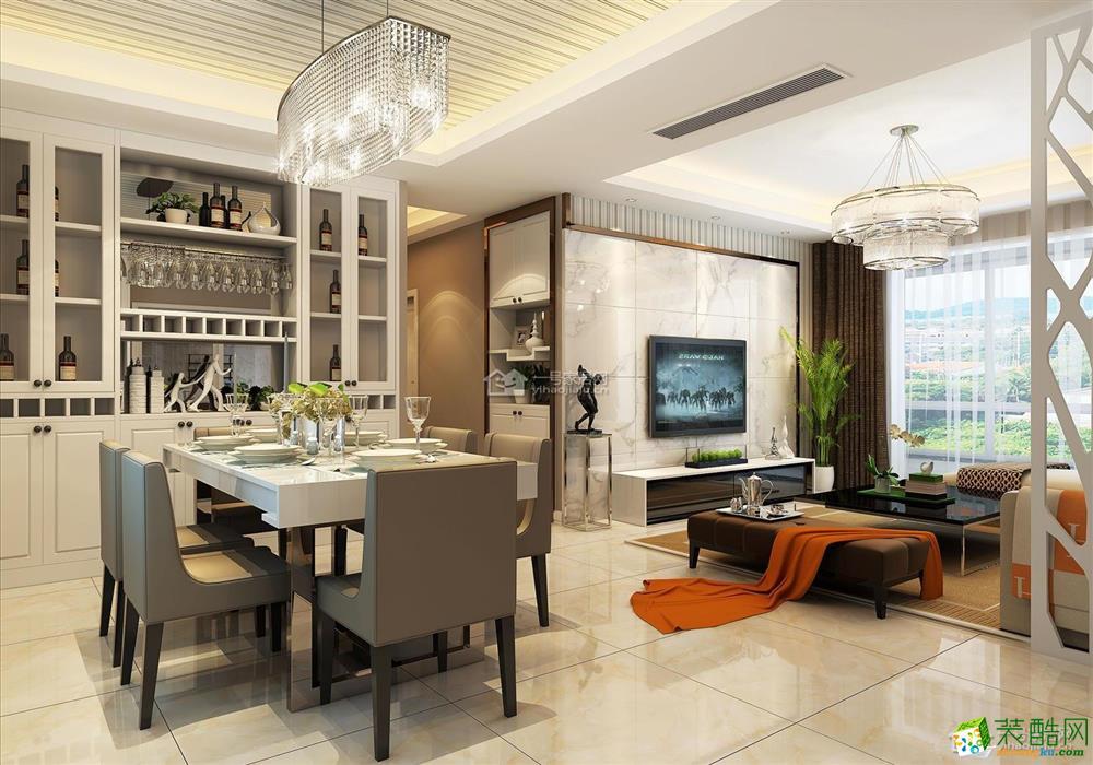 一号家居装饰―现代简约80平米二房二厅简洁装修效果图