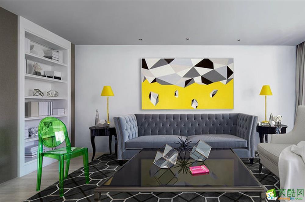 [九创装饰]现代混搭风格三居室家居设计图