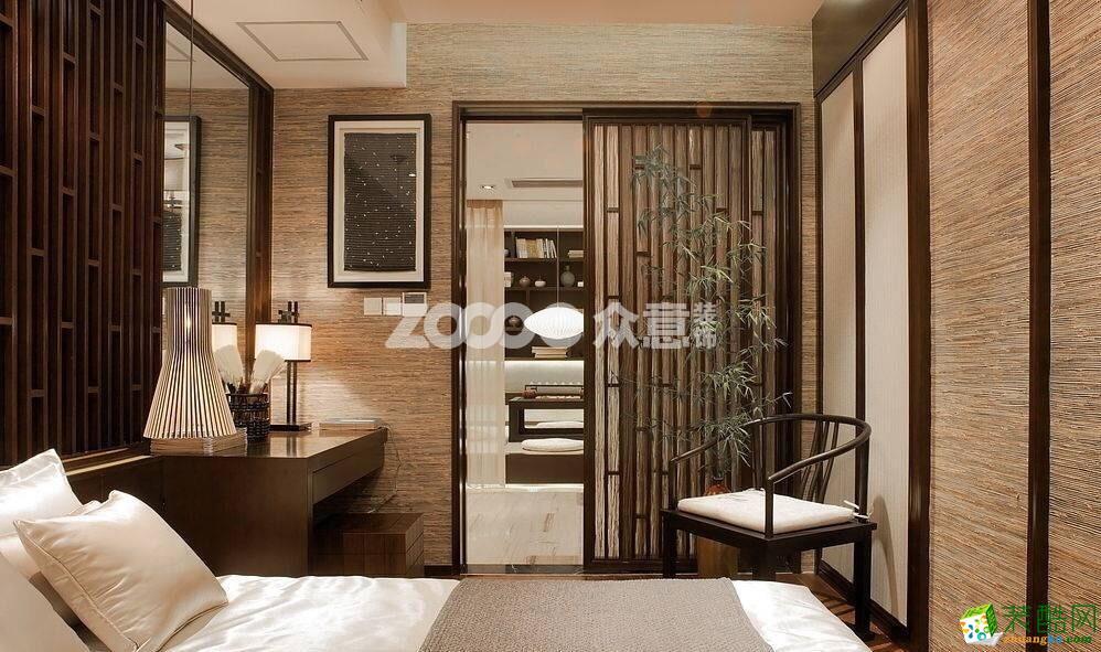 众意装饰―绿地国际理想城五室-183�O新中式风格案例