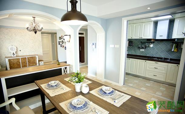 西安千百炼装饰-法式风格三室一厅一卫效果图