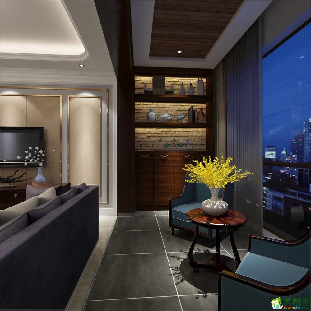 西安千百炼装饰-美式风格三室一厅一卫效果图