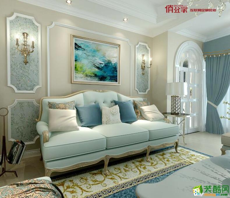 【俏业家】恒基翠庭 清新法式 三居室装修