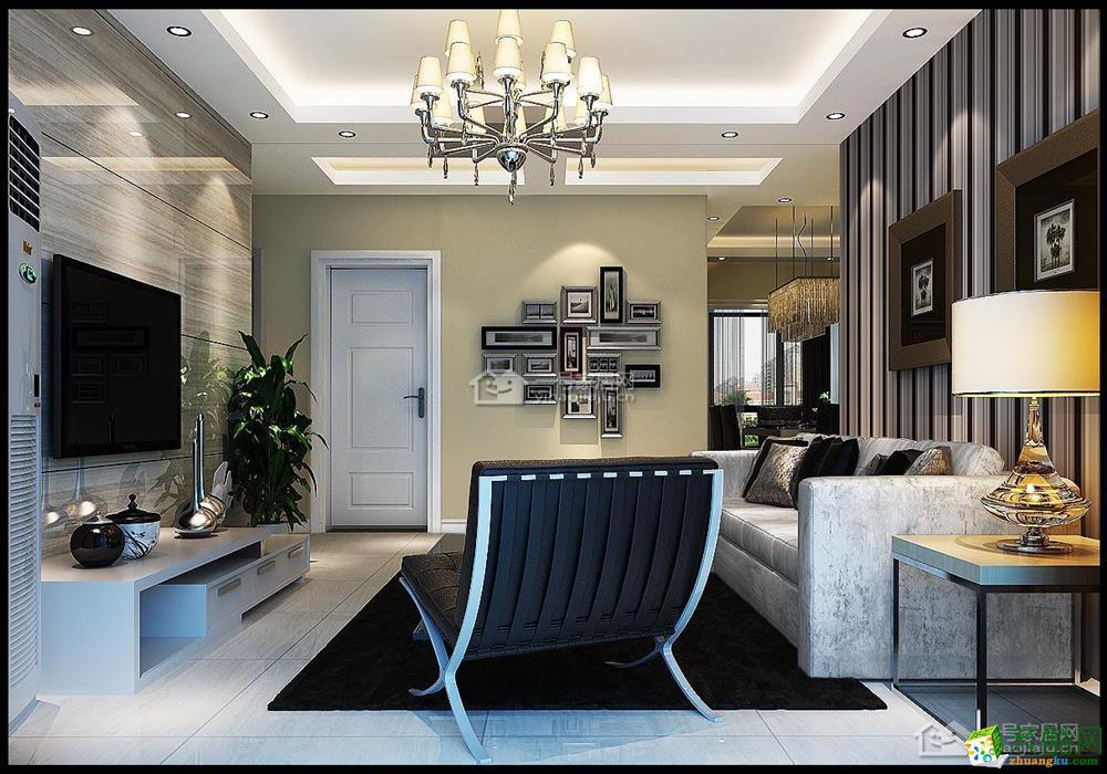一号家居装饰―现代简约89平米二房二厅温暖装修