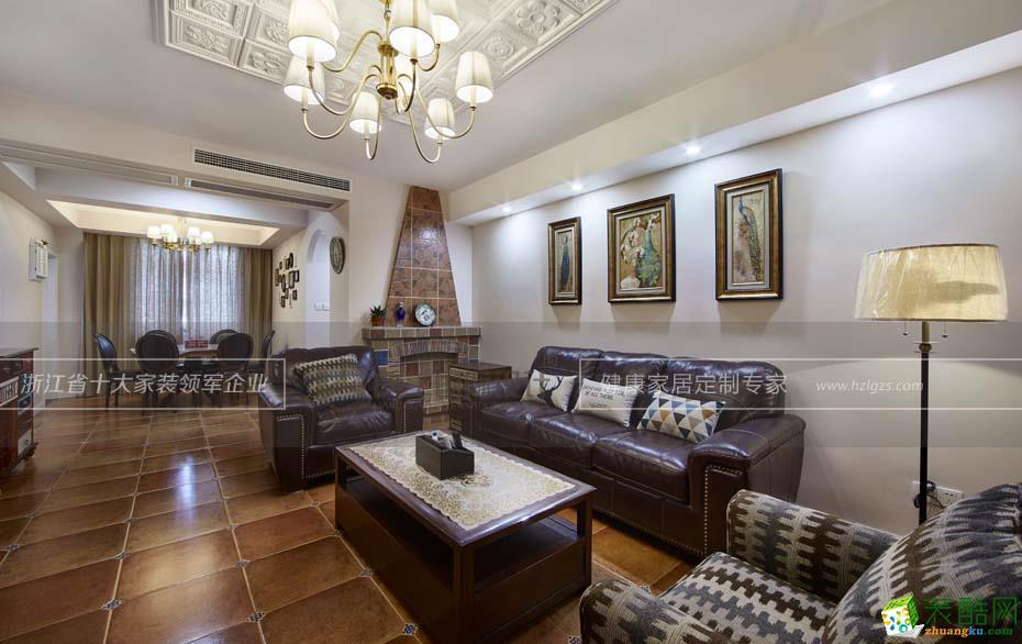 良工装饰―建塘家苑100�O美式风格公寓