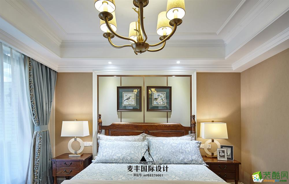卧室 麦丰装饰—赞成岭上花苑360㎡现代美式风格案例图片