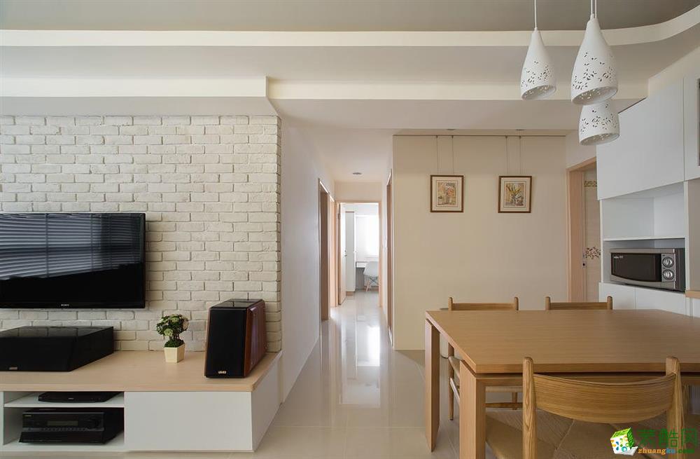 北歐現代兩室一廳裝修效果圖