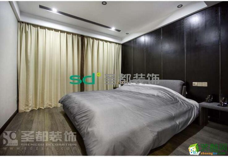 武汉圣都装饰―105�O现代简约三居室案例