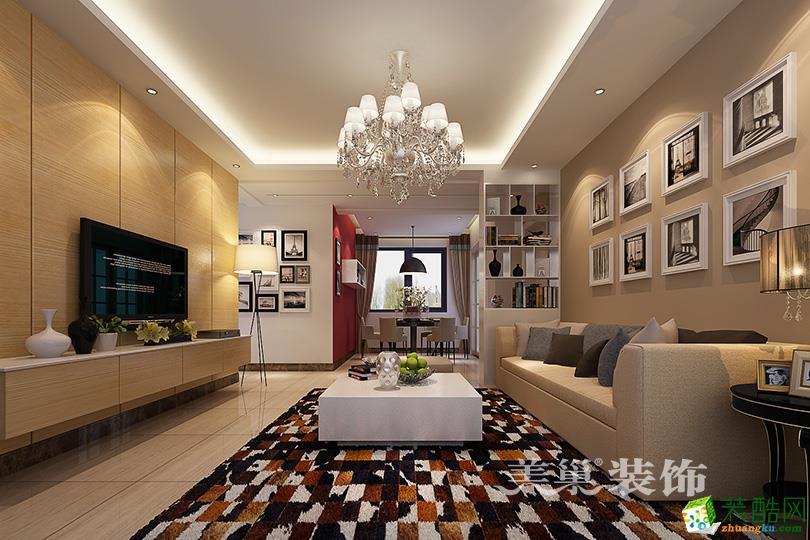 天骄华庭120平三室两厅现代简约装修效果图