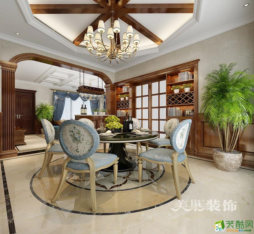 郑州碧桂园别墅264平美式风格装修