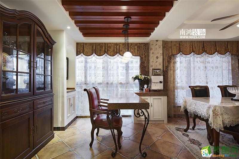 |南鸿装饰|东方郡180方美式风格四室两厅装修效果图