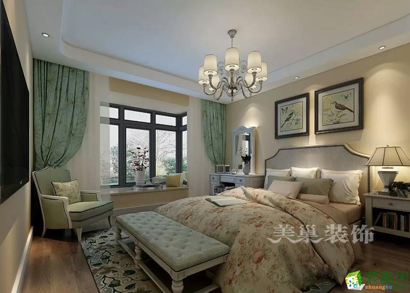 美巢装饰升龙国际151平三室两厅样板间装修美式风格设计