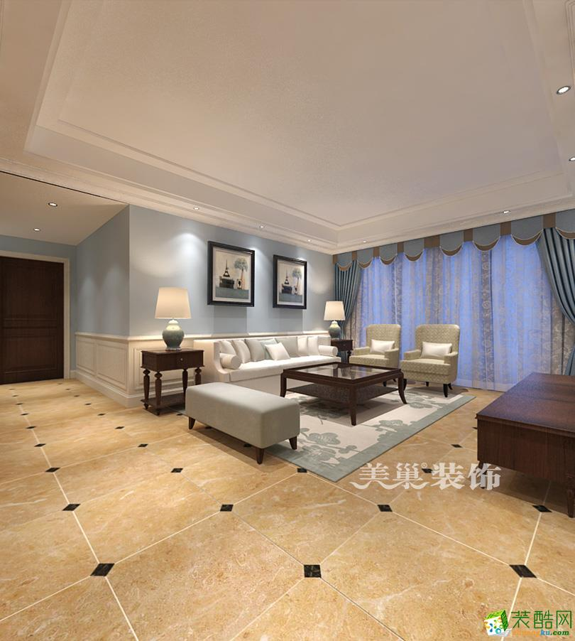 阳光城135平三室两厅美式风格装修样板间设计