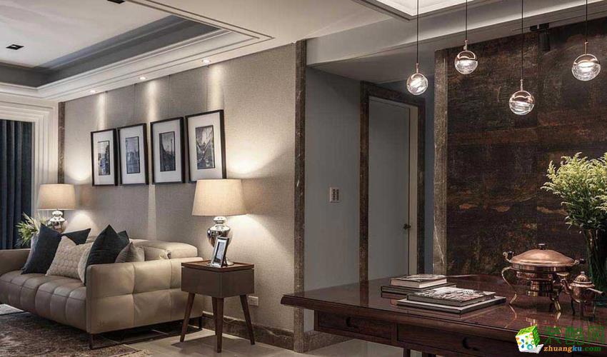 长沙乐家装饰-现代风格三居室装修效果图