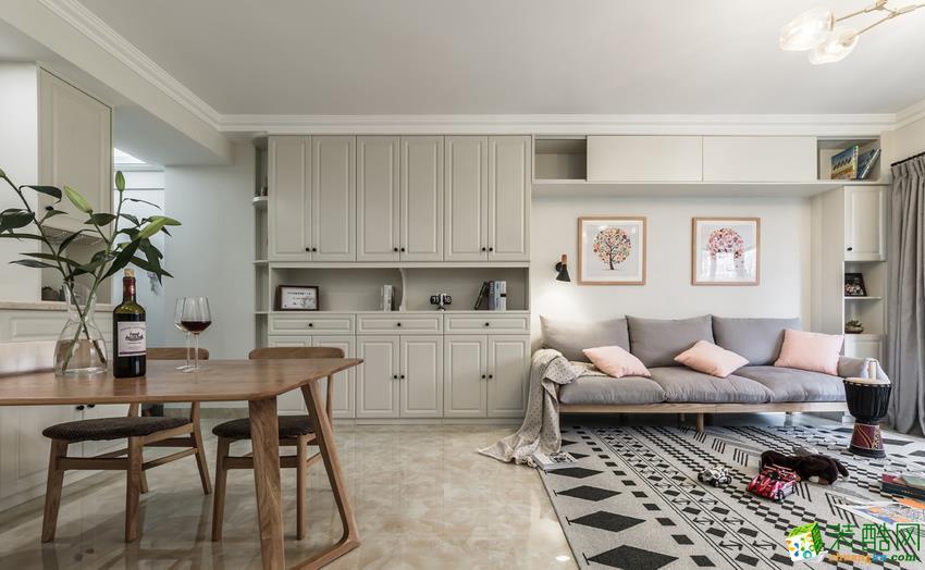 长沙雅筑装饰-北欧三居室装修效果图