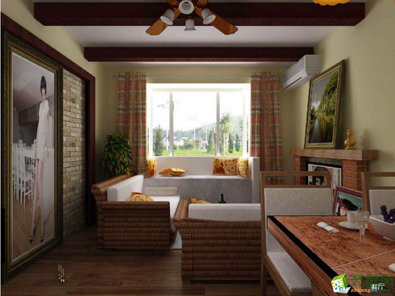 【好时嘉装饰】东南亚风格三居装修案例图