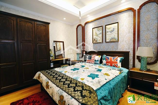 天朗蔚蓝东庭|四居室|130�O|美式风格
