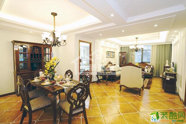 天丰・东环广场|三居室|120�O|美式风格