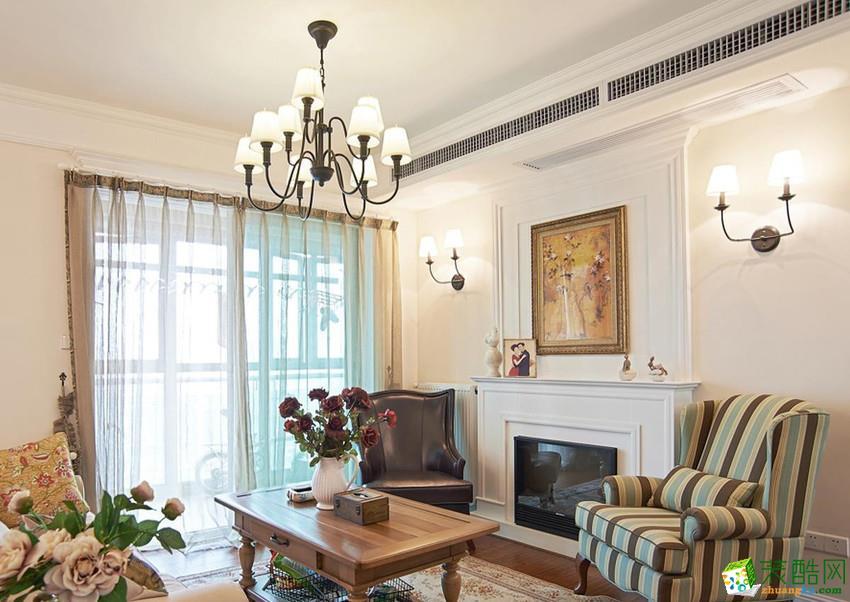 长沙立住装饰-美式两居室装修效果图