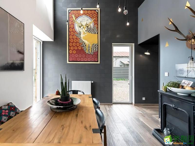 长沙立住装饰-现代三居室装修效果图