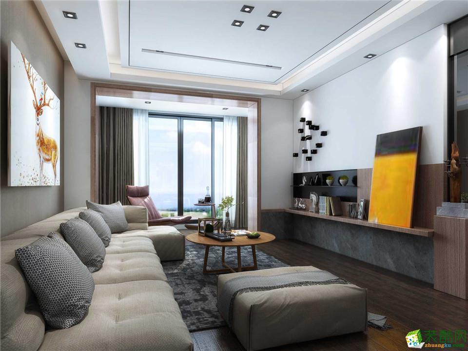 郑州一号家居网运河上城三居室112平现代简约风格