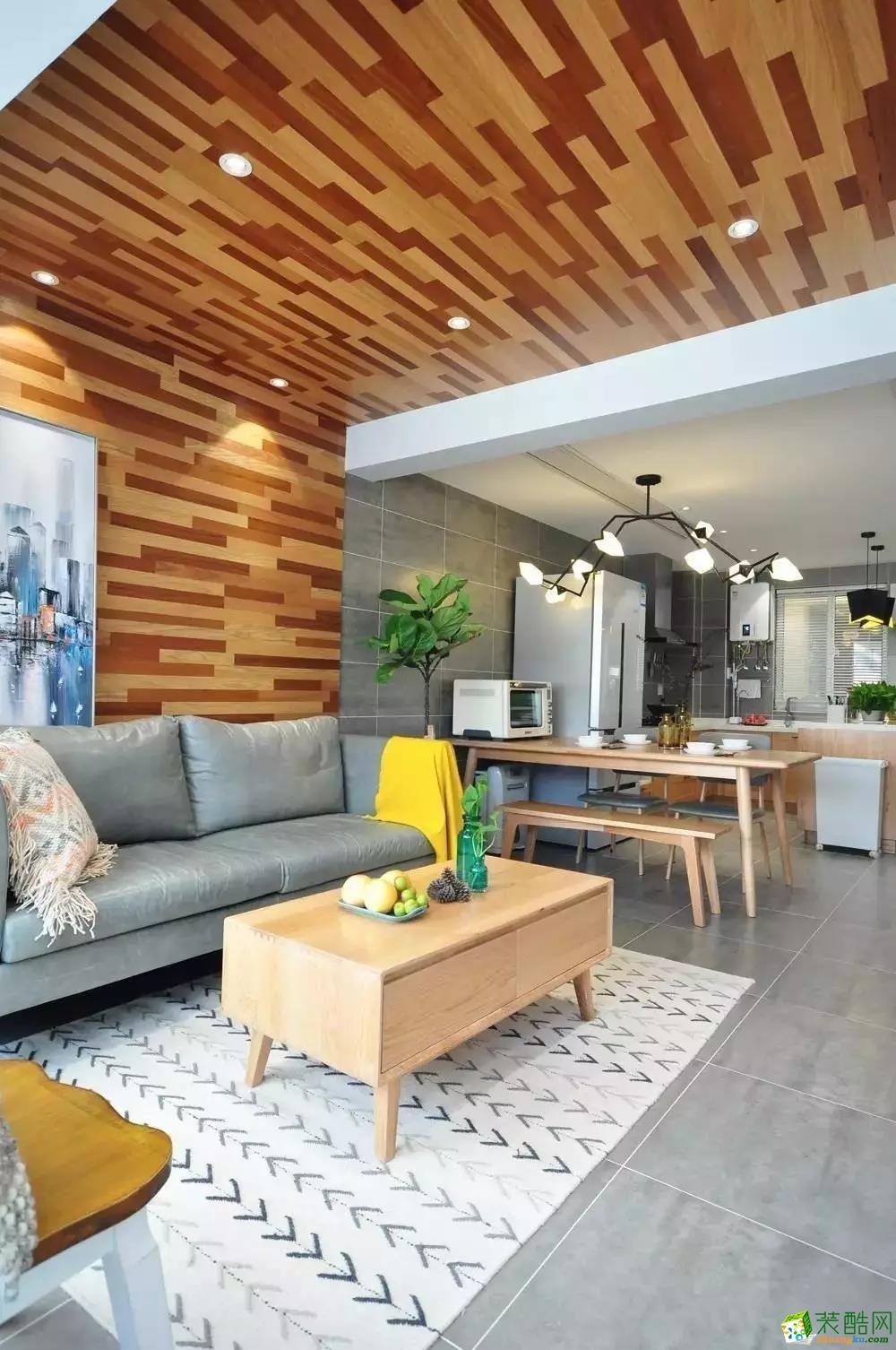 85㎡美酷小空间,地板上墙还上天