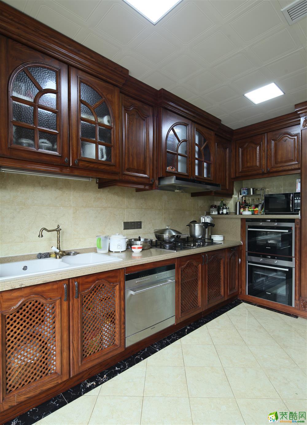 厨房 340平重庆恒大华府欧式风格设计实景图 重庆恒大华府欧式风格设计实景图